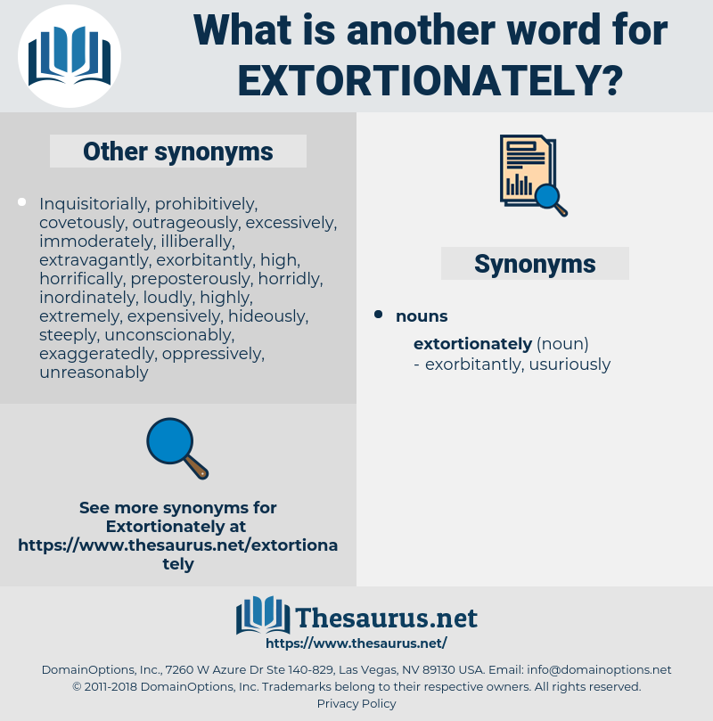 extortionately, synonym extortionately, another word for extortionately, words like extortionately, thesaurus extortionately