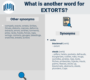 extorts, synonym extorts, another word for extorts, words like extorts, thesaurus extorts