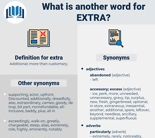 extra, synonym extra, another word for extra, words like extra, thesaurus extra