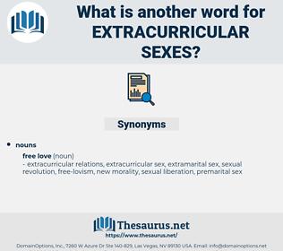 extracurricular sexes, synonym extracurricular sexes, another word for extracurricular sexes, words like extracurricular sexes, thesaurus extracurricular sexes