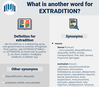 extradition, synonym extradition, another word for extradition, words like extradition, thesaurus extradition