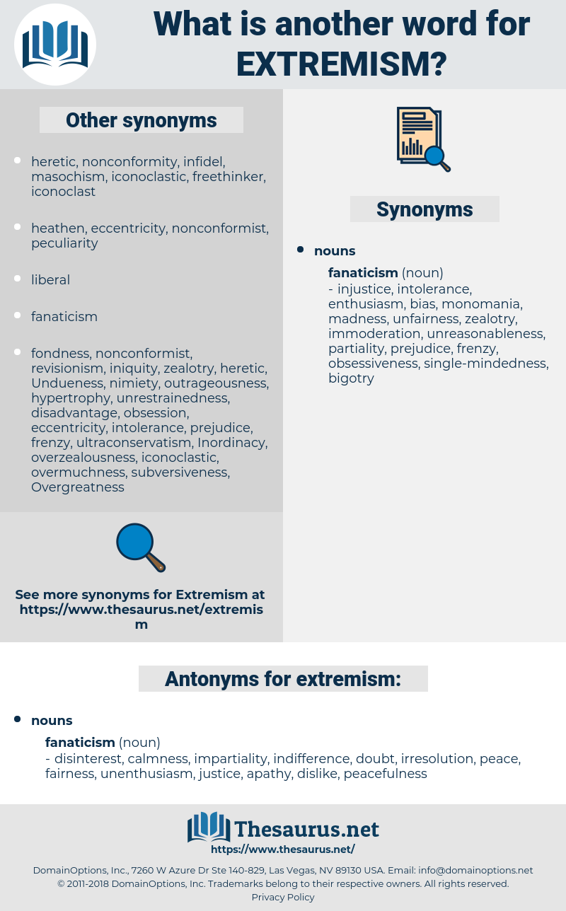 extremism, synonym extremism, another word for extremism, words like extremism, thesaurus extremism