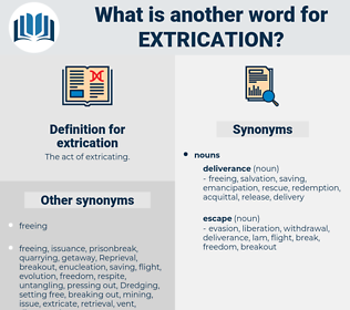 extrication, synonym extrication, another word for extrication, words like extrication, thesaurus extrication