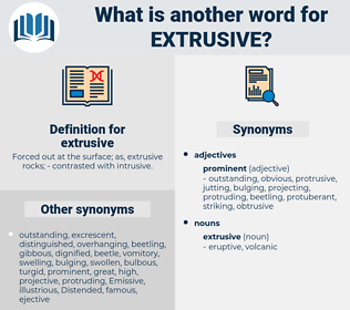 extrusive, synonym extrusive, another word for extrusive, words like extrusive, thesaurus extrusive