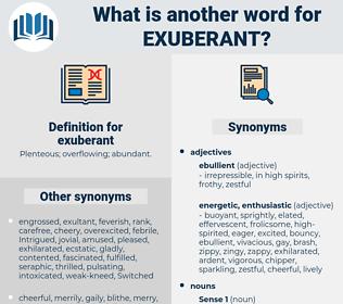 exuberant, synonym exuberant, another word for exuberant, words like exuberant, thesaurus exuberant