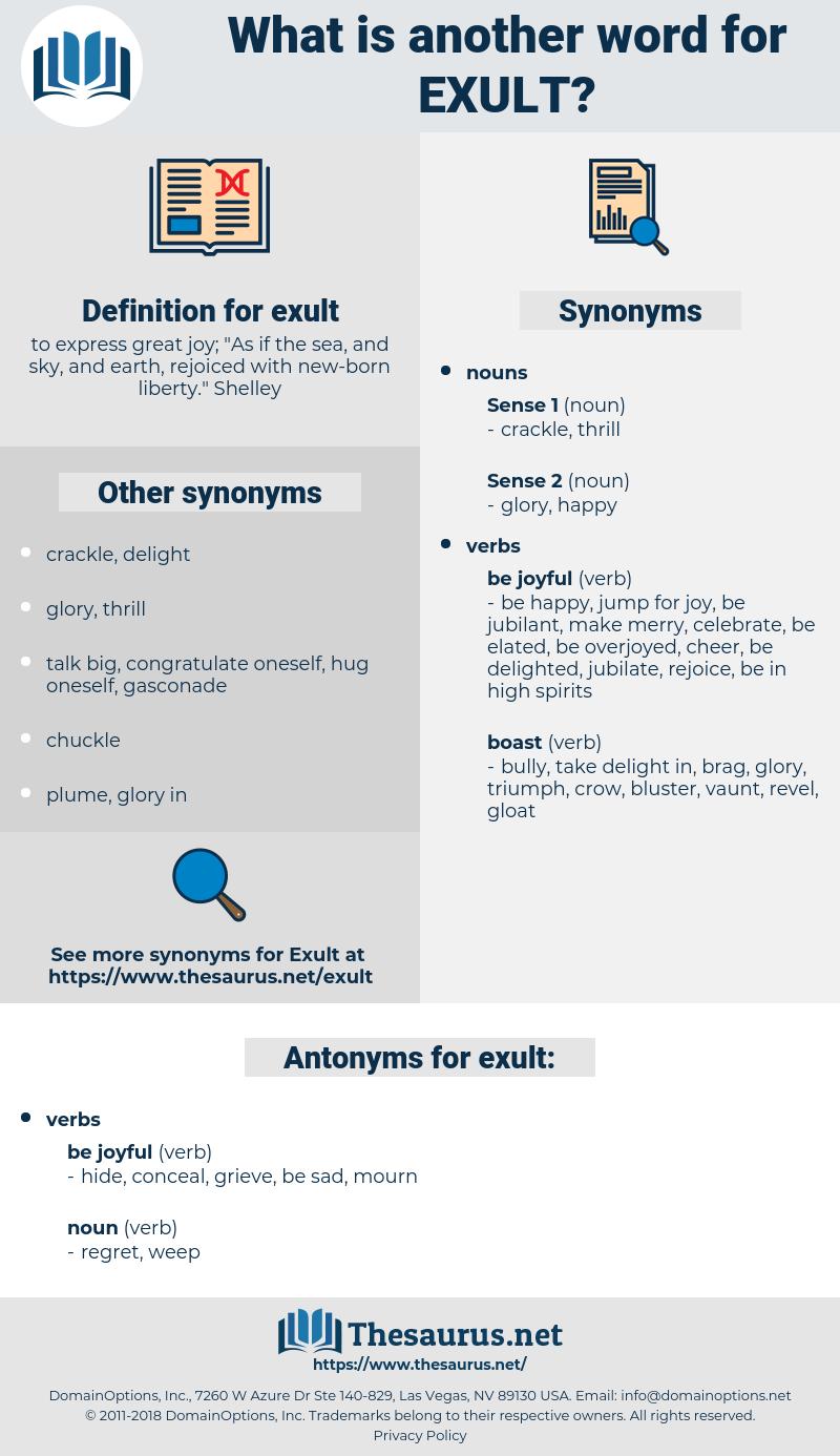 exult, synonym exult, another word for exult, words like exult, thesaurus exult