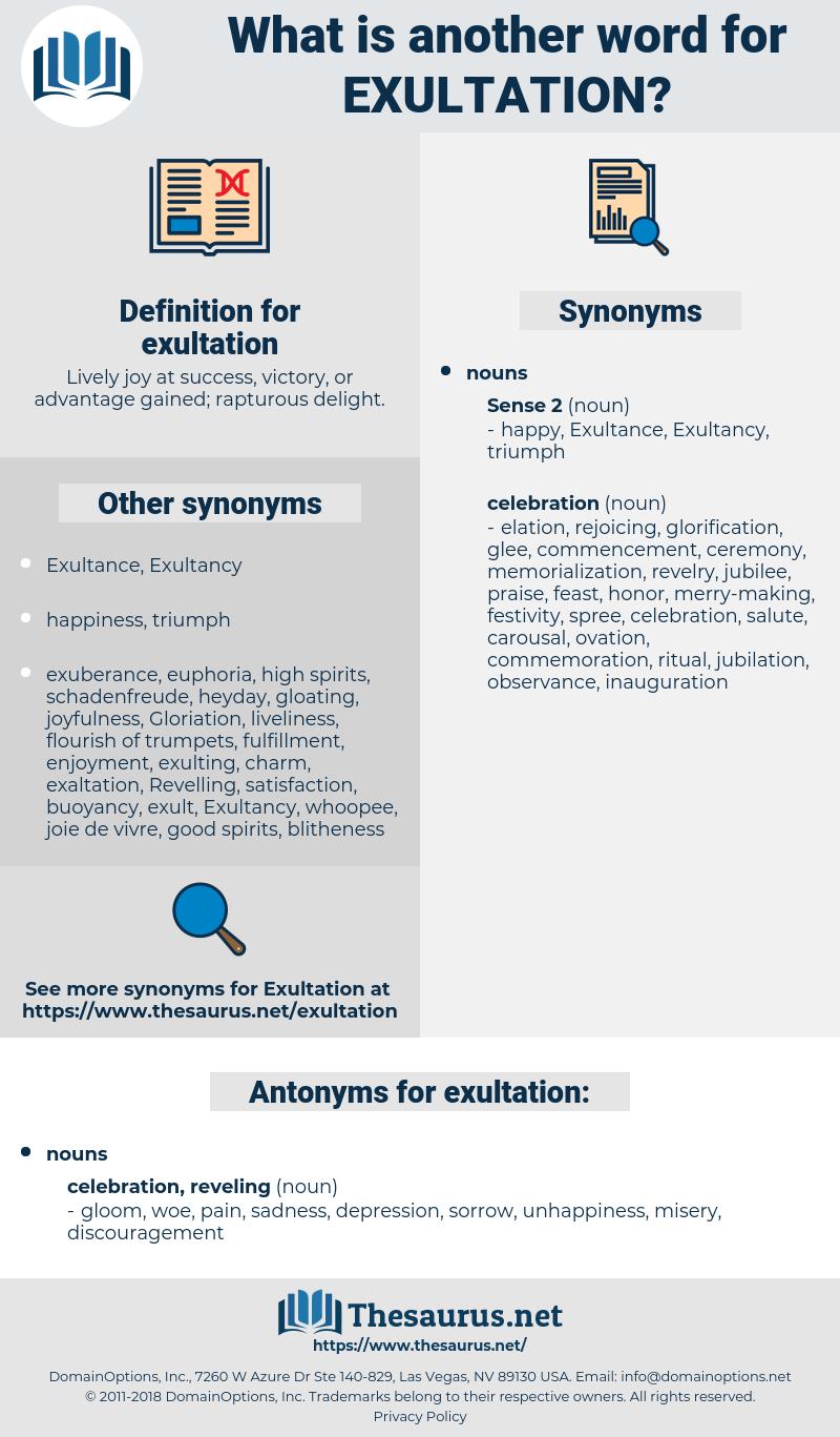 exultation, synonym exultation, another word for exultation, words like exultation, thesaurus exultation