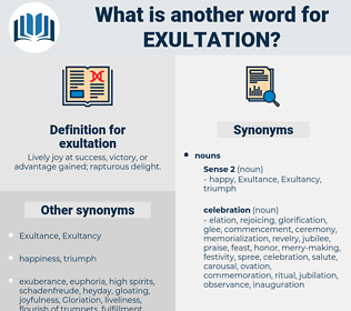exultation, synonym exultation, another word for exultation, words like exultation, thesaurus exultation