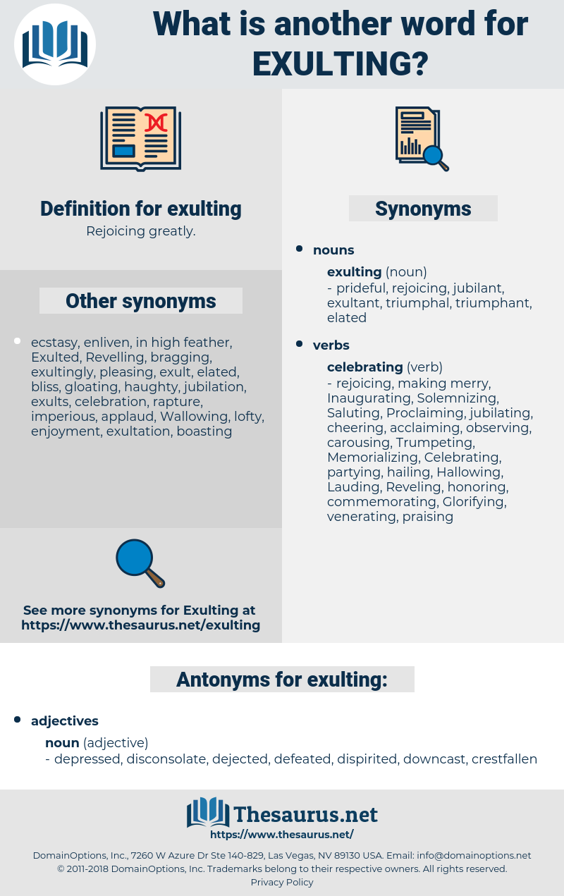 exulting, synonym exulting, another word for exulting, words like exulting, thesaurus exulting