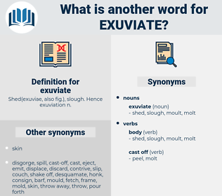 exuviate, synonym exuviate, another word for exuviate, words like exuviate, thesaurus exuviate