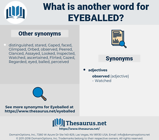 eyeballed, synonym eyeballed, another word for eyeballed, words like eyeballed, thesaurus eyeballed