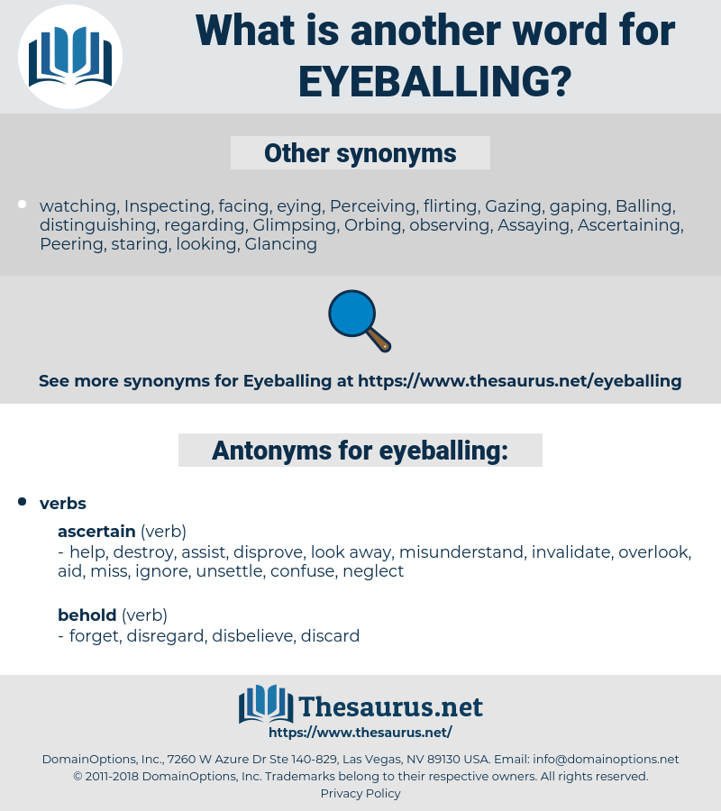 eyeballing, synonym eyeballing, another word for eyeballing, words like eyeballing, thesaurus eyeballing