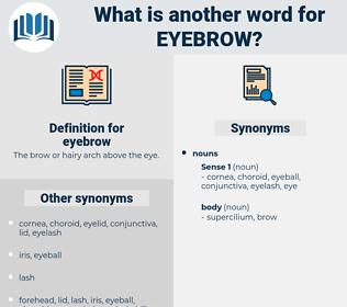 eyebrow, synonym eyebrow, another word for eyebrow, words like eyebrow, thesaurus eyebrow