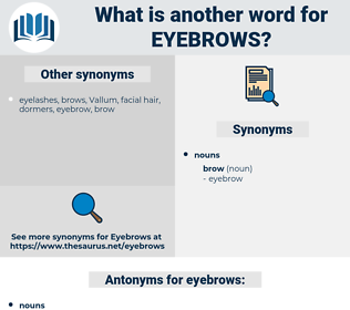eyebrows, synonym eyebrows, another word for eyebrows, words like eyebrows, thesaurus eyebrows