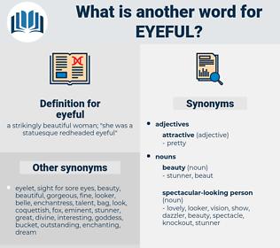 eyeful, synonym eyeful, another word for eyeful, words like eyeful, thesaurus eyeful