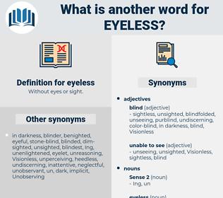 eyeless, synonym eyeless, another word for eyeless, words like eyeless, thesaurus eyeless