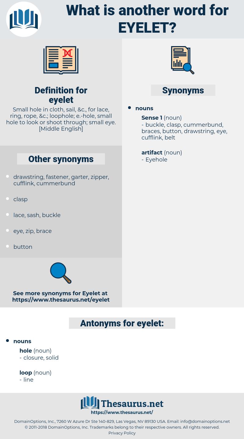 eyelet, synonym eyelet, another word for eyelet, words like eyelet, thesaurus eyelet