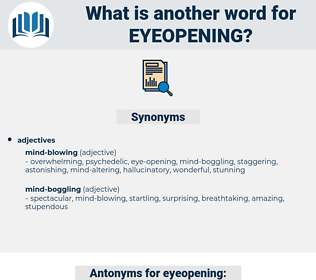 eyeopening, synonym eyeopening, another word for eyeopening, words like eyeopening, thesaurus eyeopening