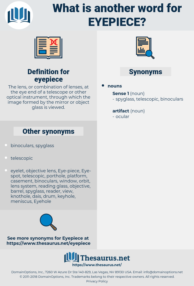 eyepiece, synonym eyepiece, another word for eyepiece, words like eyepiece, thesaurus eyepiece