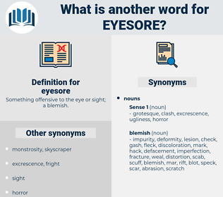 eyesore, synonym eyesore, another word for eyesore, words like eyesore, thesaurus eyesore