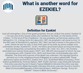 Ezekiel, synonym Ezekiel, another word for Ezekiel, words like Ezekiel, thesaurus Ezekiel