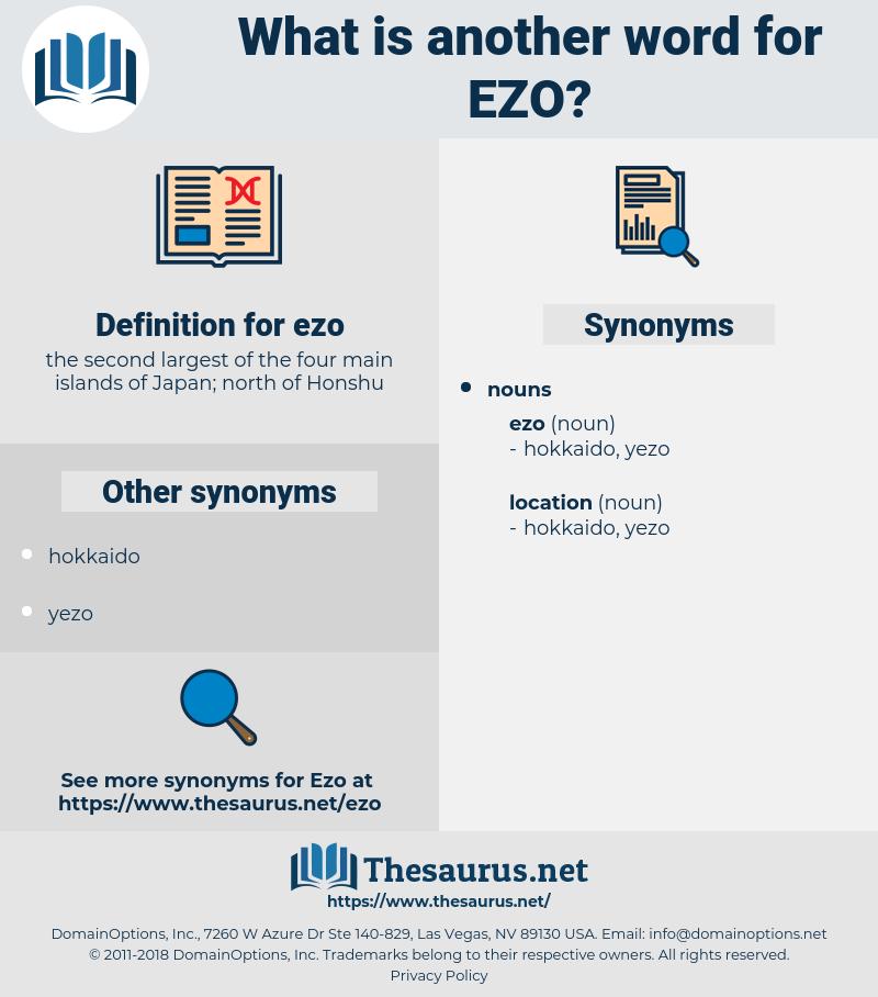 ezo, synonym ezo, another word for ezo, words like ezo, thesaurus ezo