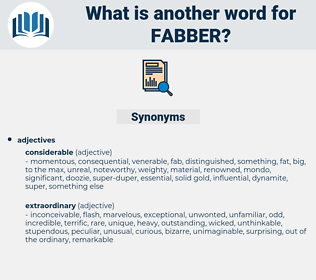 fabber, synonym fabber, another word for fabber, words like fabber, thesaurus fabber