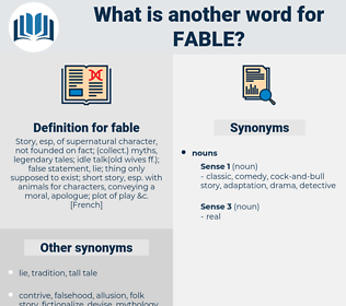 fable, synonym fable, another word for fable, words like fable, thesaurus fable