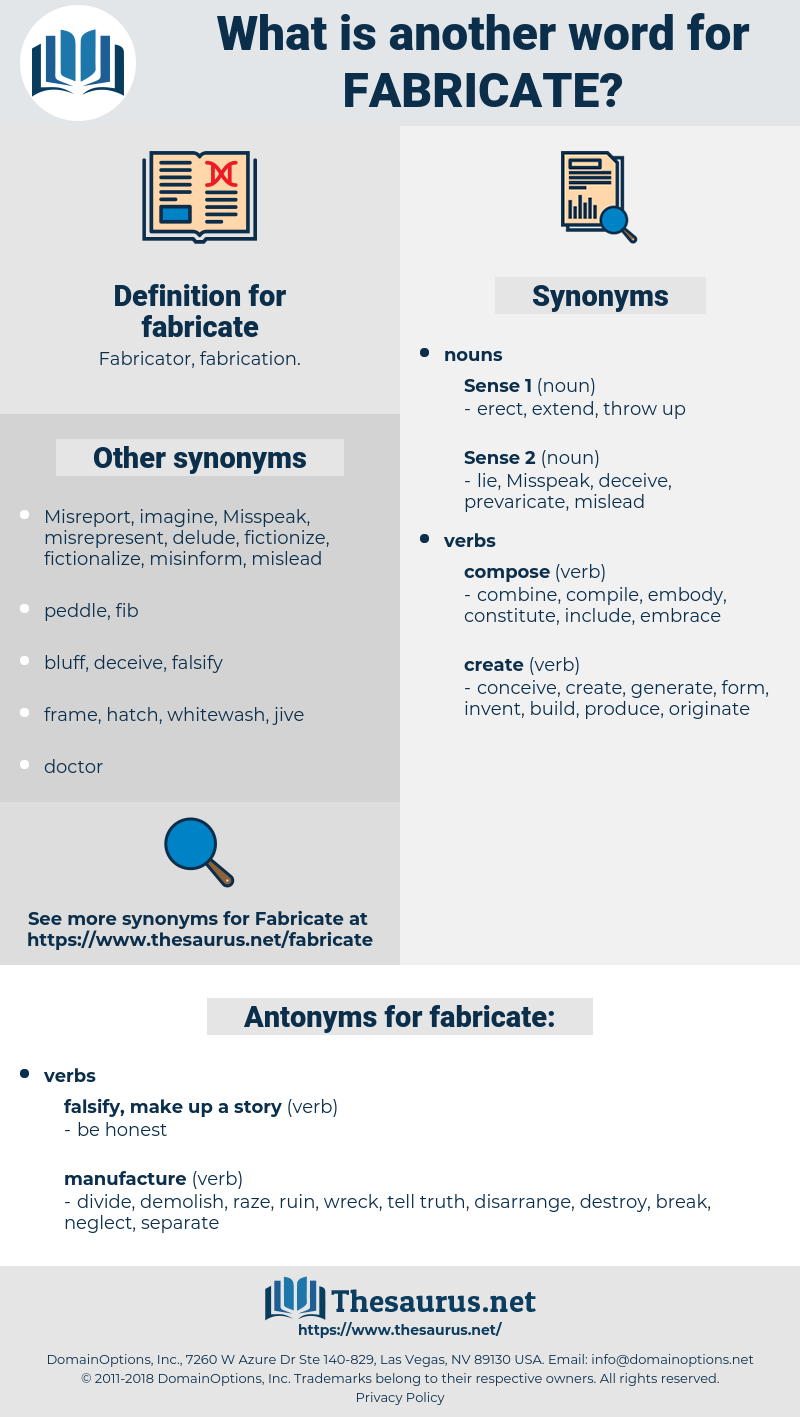fabricate, synonym fabricate, another word for fabricate, words like fabricate, thesaurus fabricate