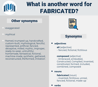 fabricated, synonym fabricated, another word for fabricated, words like fabricated, thesaurus fabricated