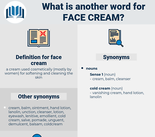 face cream, synonym face cream, another word for face cream, words like face cream, thesaurus face cream