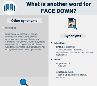 face down, synonym face down, another word for face down, words like face down, thesaurus face down