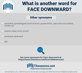 face downward, synonym face downward, another word for face downward, words like face downward, thesaurus face downward