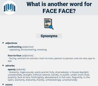 face face, synonym face face, another word for face face, words like face face, thesaurus face face