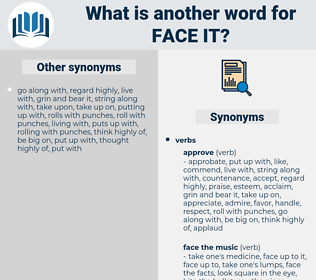 face it, synonym face it, another word for face it, words like face it, thesaurus face it