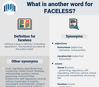 faceless, synonym faceless, another word for faceless, words like faceless, thesaurus faceless