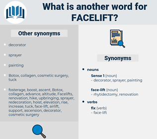 facelift, synonym facelift, another word for facelift, words like facelift, thesaurus facelift