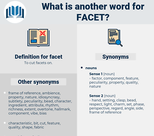 facet, synonym facet, another word for facet, words like facet, thesaurus facet