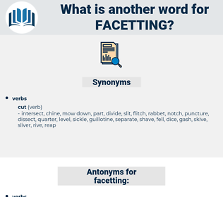 facetting, synonym facetting, another word for facetting, words like facetting, thesaurus facetting