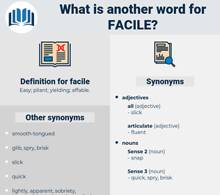 facile, synonym facile, another word for facile, words like facile, thesaurus facile