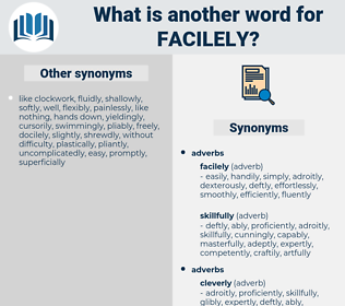 facilely, synonym facilely, another word for facilely, words like facilely, thesaurus facilely