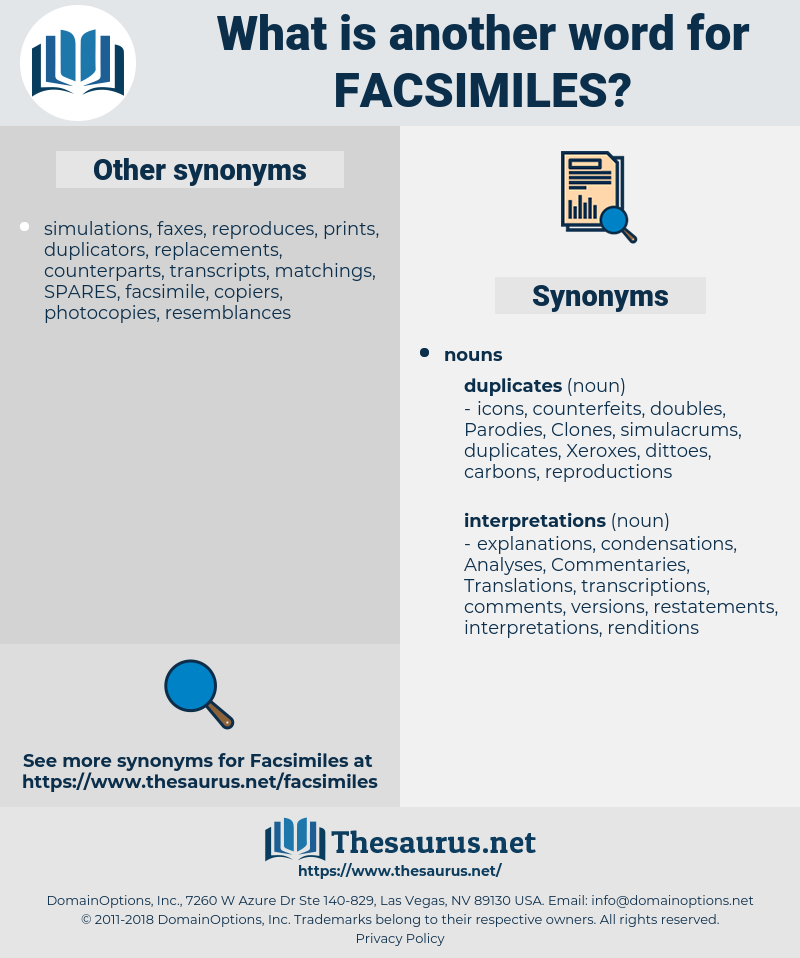 Facsimiles, synonym Facsimiles, another word for Facsimiles, words like Facsimiles, thesaurus Facsimiles