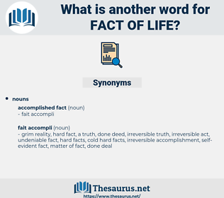fact of life, synonym fact of life, another word for fact of life, words like fact of life, thesaurus fact of life