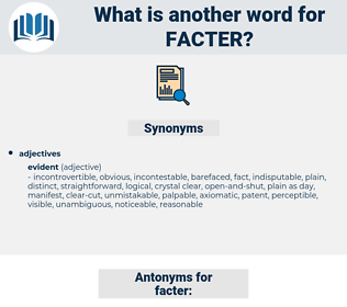 facter, synonym facter, another word for facter, words like facter, thesaurus facter