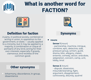 faction, synonym faction, another word for faction, words like faction, thesaurus faction