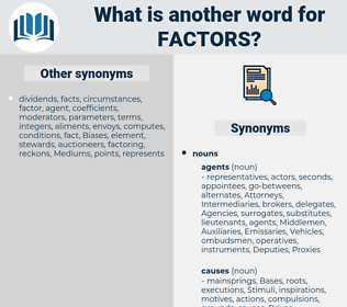 factors, synonym factors, another word for factors, words like factors, thesaurus factors