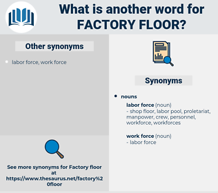factory floor, synonym factory floor, another word for factory floor, words like factory floor, thesaurus factory floor