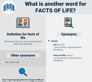 facts of life, synonym facts of life, another word for facts of life, words like facts of life, thesaurus facts of life