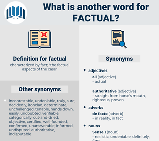 factual, synonym factual, another word for factual, words like factual, thesaurus factual