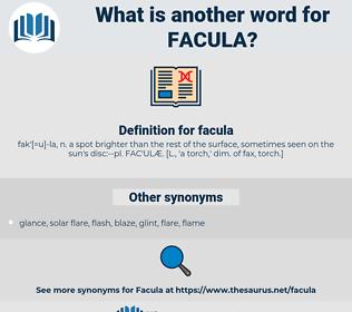 facula, synonym facula, another word for facula, words like facula, thesaurus facula